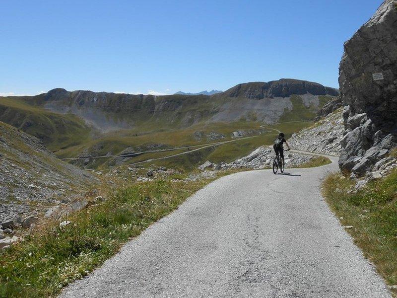 Road is paved until Colle Valcavera