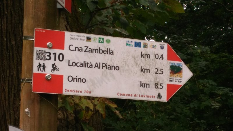 """Whenever you are in doubt choosing a turn in Trail 310a, follow the """"Orino"""" direction"""