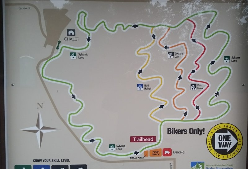 Trail Map at trailhead