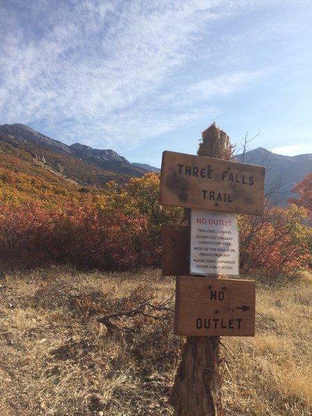 Three Falls Trail-head