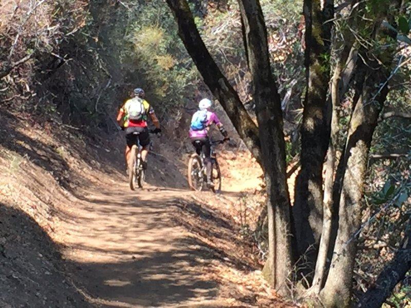 Bikers on Mount Umunhum Trail