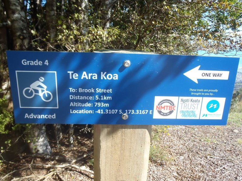 Nelson Mountain Bike Club has done a good job signposting the trail.