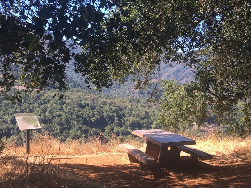 Good spot for a break with a view. Along the ridge line of Almaden Quicksilver County Park.