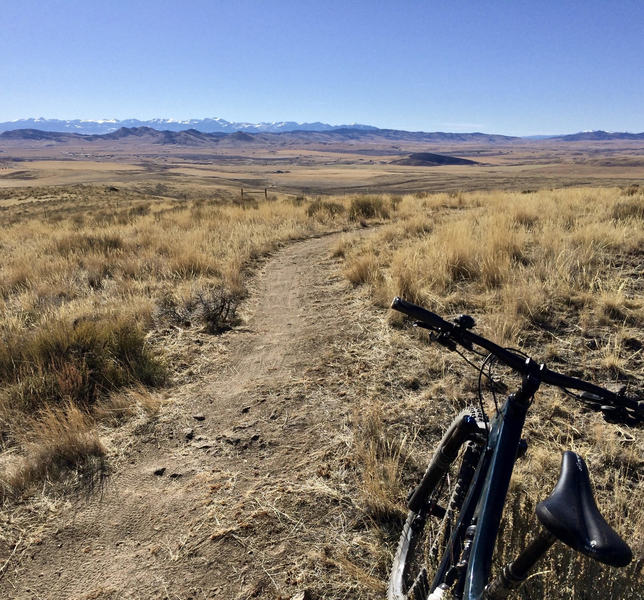 Looking towards the Tobacco Root Mountains.