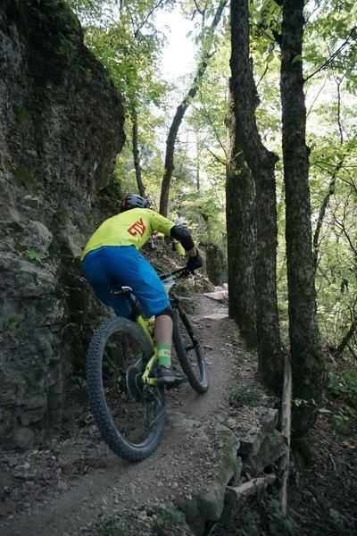 Ripping down the Bluffline Trail.