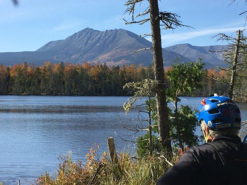 Idaho Lake and Mt. Katahdin.