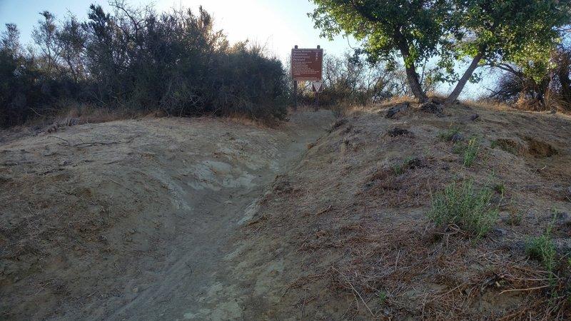 The trailhead as seen from Santa Maria Road