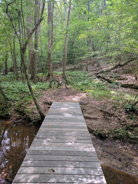 Bridge at the end of the Motts Extension Trail
