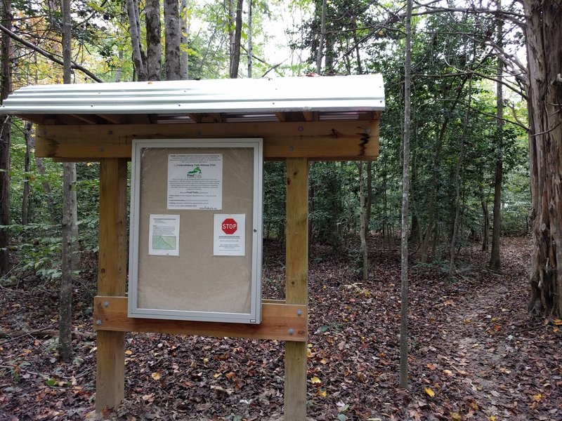 Kiosk at TrailHead