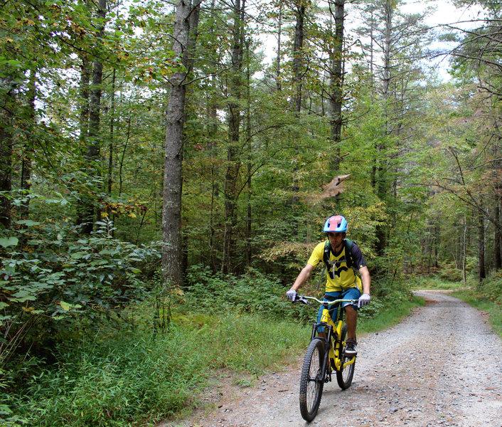 climbing to Dupont ridgeline trail