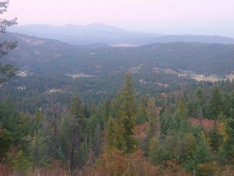 View north to Mt. Spokane