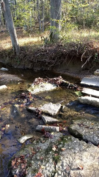3rd stream crossing when the water is running shallow.