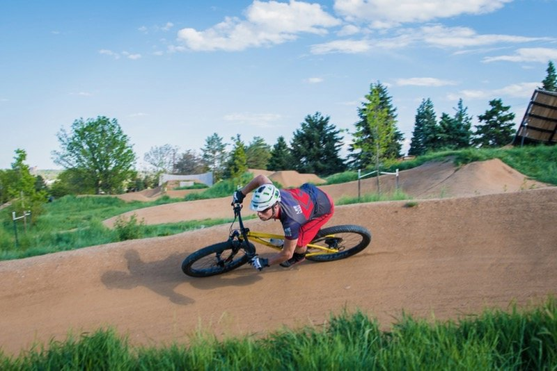 Berm on Small Slopestyle Line.