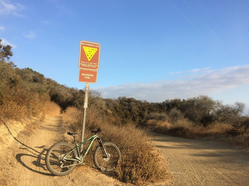 Trailhead at the top
