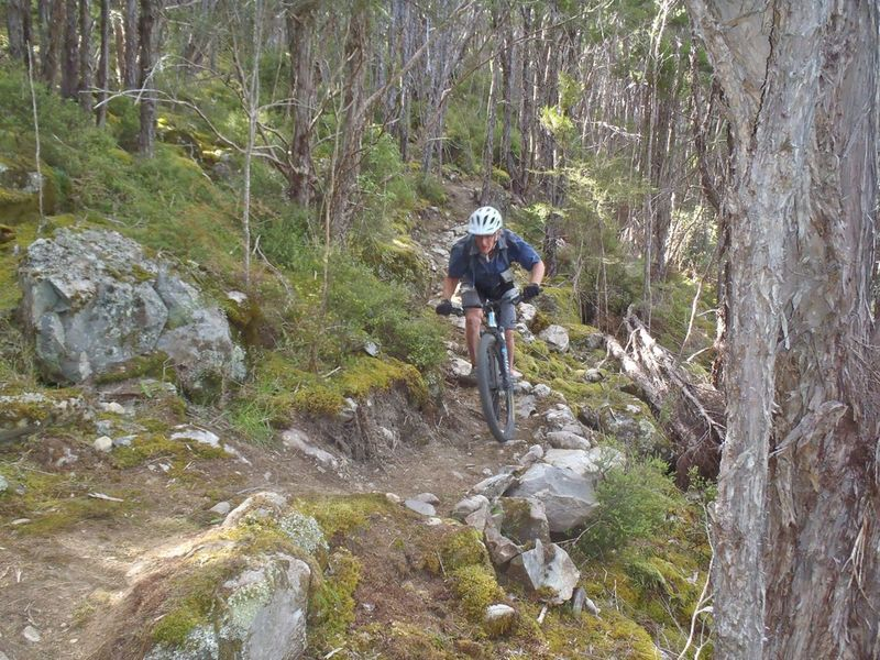 Riding the old morraine section of Duck Down