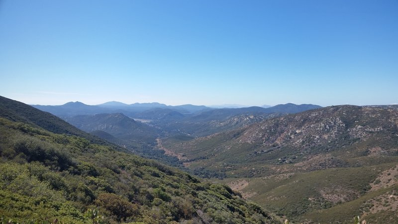The Noble Canyon climb