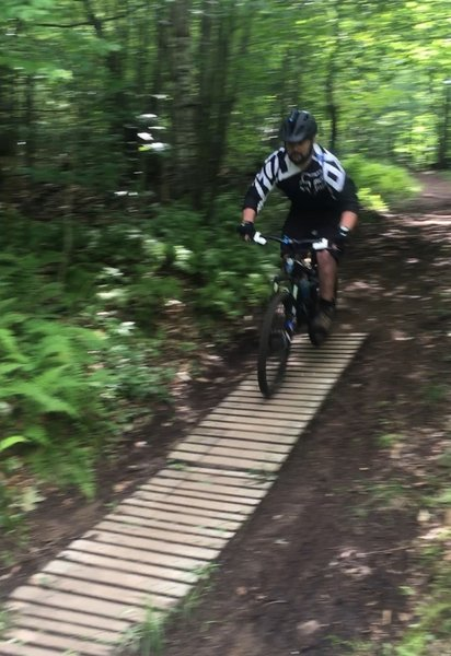 Nick riding the lower portion of Poorman's