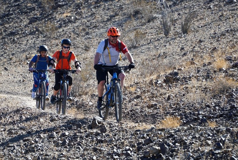 Yuma Composite middle school MTB team out for their first taste of true singletrack