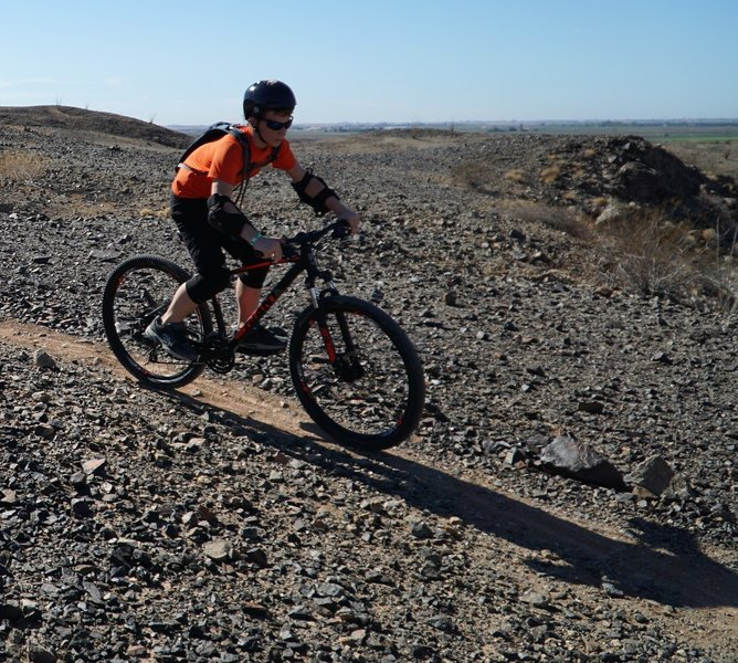 Dylan setting up for the switchback.