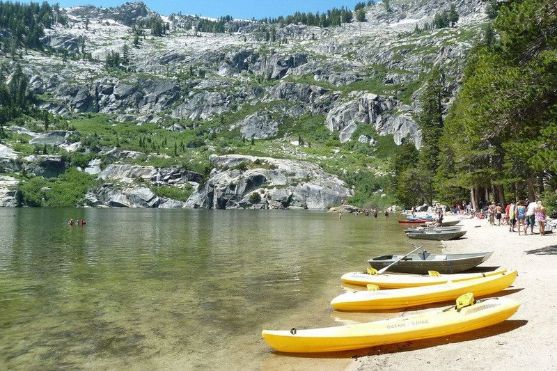 Beach at Upper Angora Lake