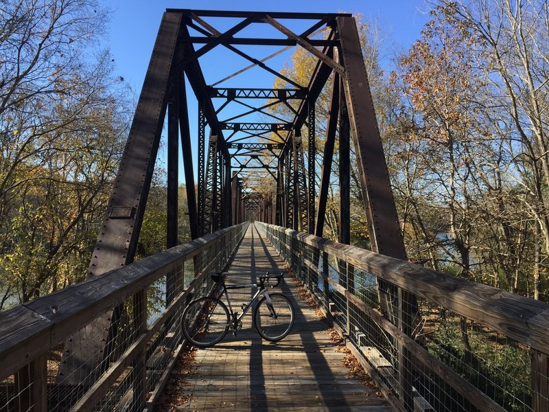 Trail start - 1100 foot Broad River trestle