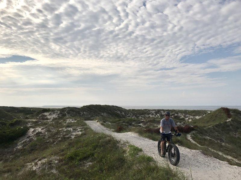 Crest of dunes overlooking Atlantic Ocean