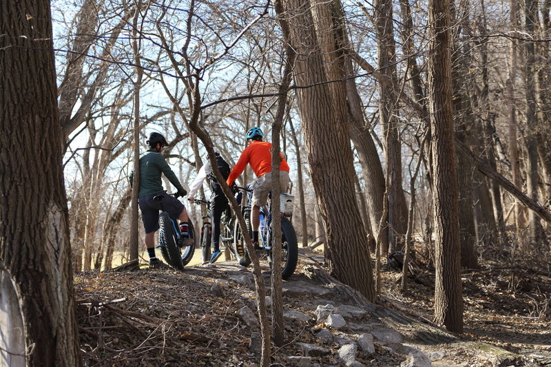 Gathering @ the top of Gnarnia, a short rock garden that will challenge your rock navigation skills