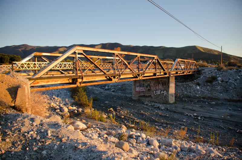 Mill Creek Bridge at Sunset.