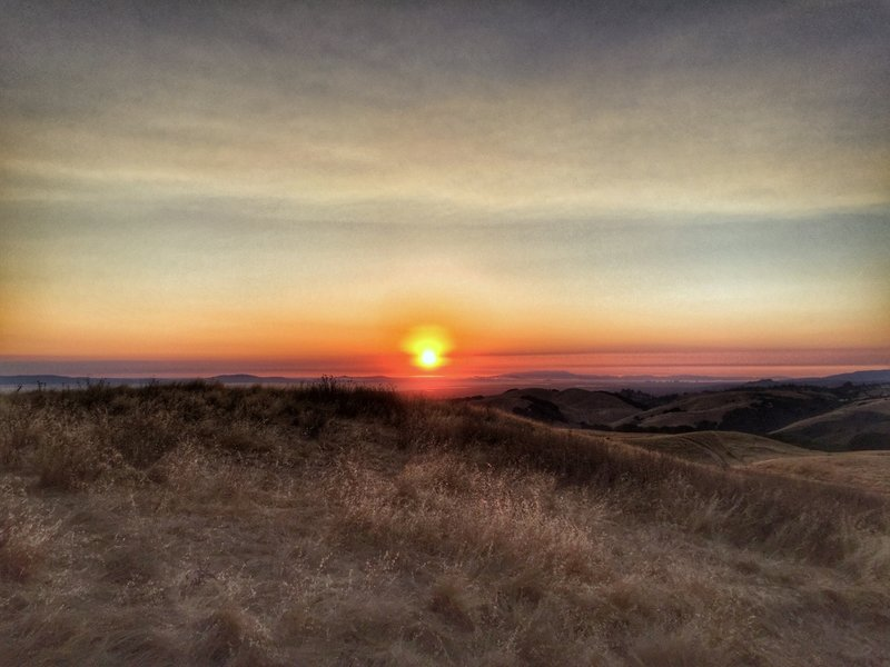 Sunset from the High Ridge Loop Trail.