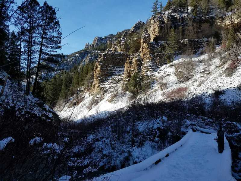 Crossing Lower Palisades Creek