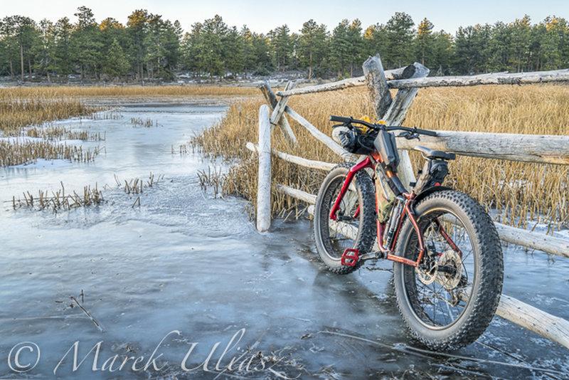 Frozen lake on Mount Margaret Trail, December 11, 2017