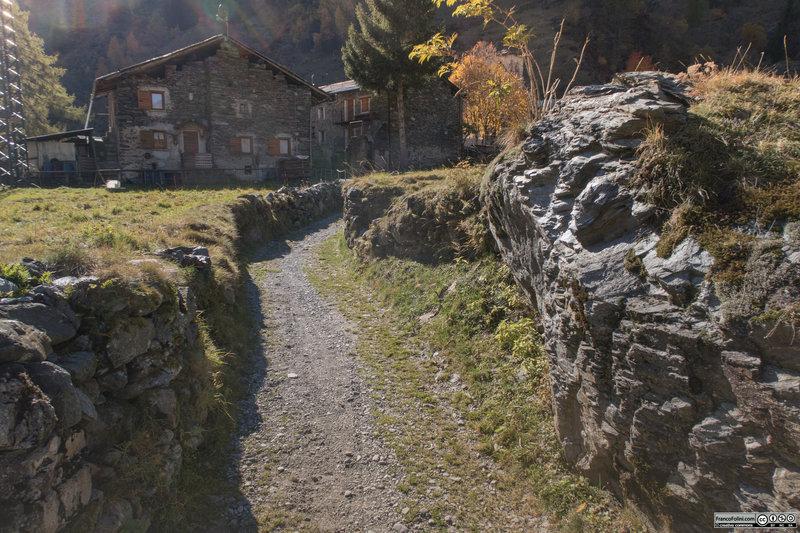 Entering the Ambria village.