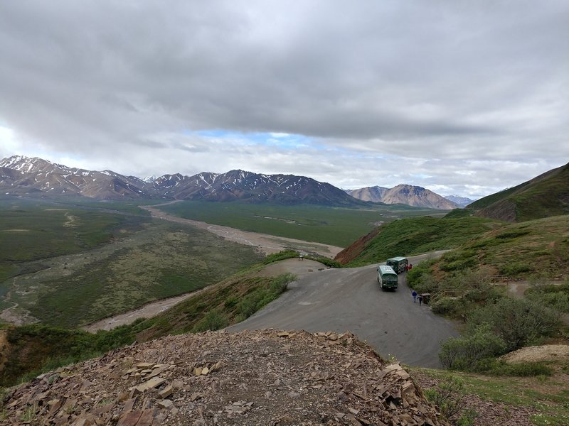 View from Polychrome Pass.