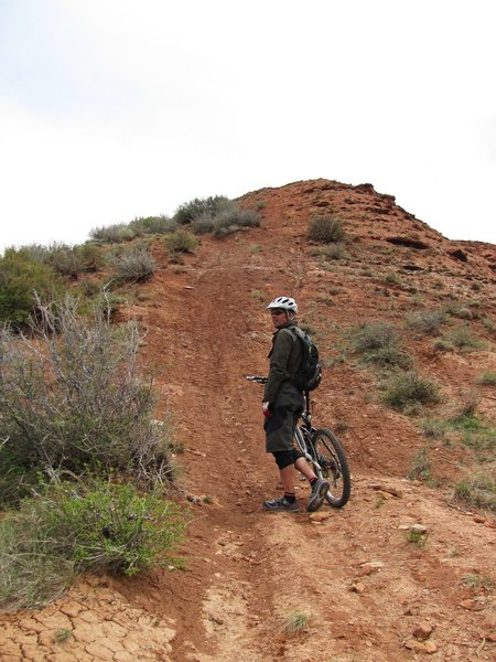 The big hike-a-bike to the top.