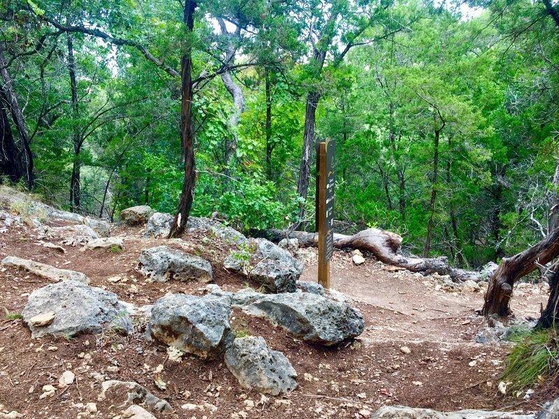 A small trail-hub along the Canyon Trail.