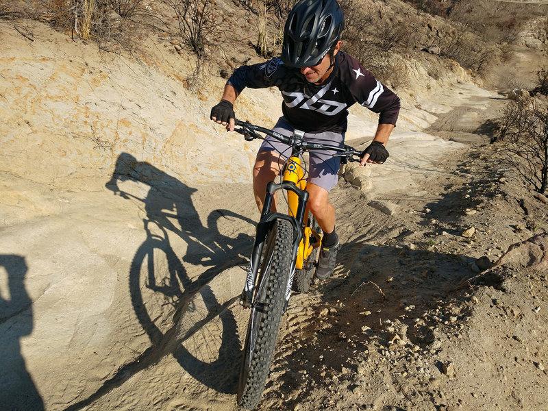Nice little technical bit of climbing on Anaheim Hills.