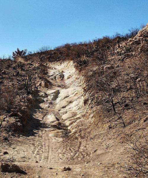 Fun, somewhat-techy climb, Anaheim Hills trail.