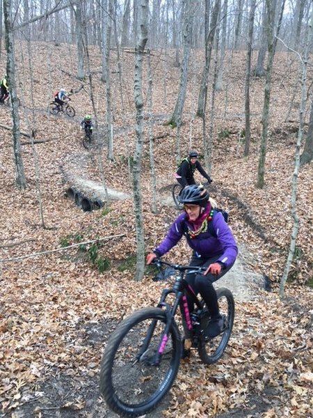 Women's ride at FPMT--tackling the new D Trail