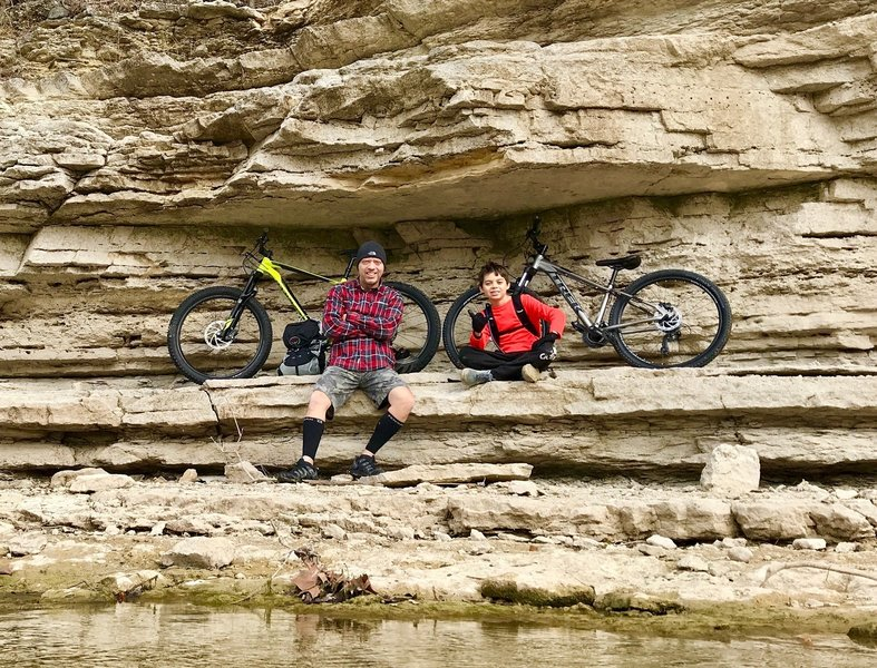 Hurst Creek rock ledges are great hang out spots.