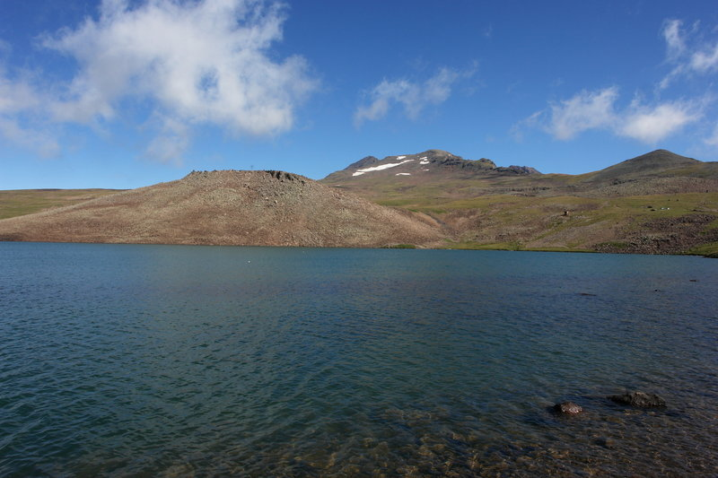 Stone Lake on Aragats Mountain.