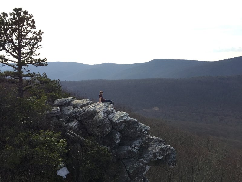 Looking south from the summit of Tibet Knob