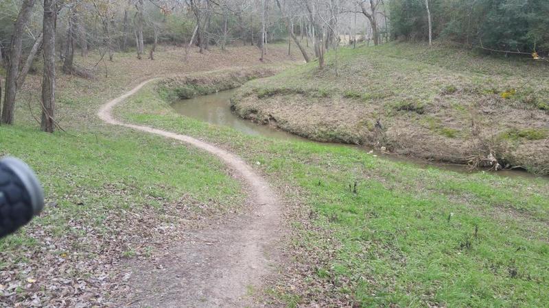 Main trail along creek...
