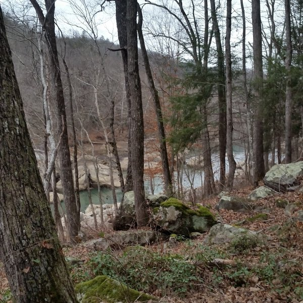 Cumberland River viewed from Sheltowee Trace section 27.