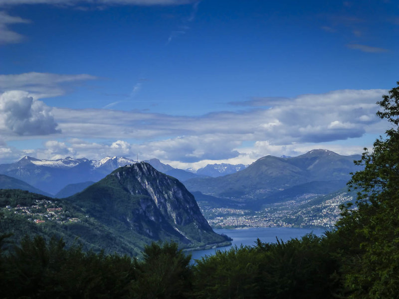Monte San Salvatore and Lago di Lugano