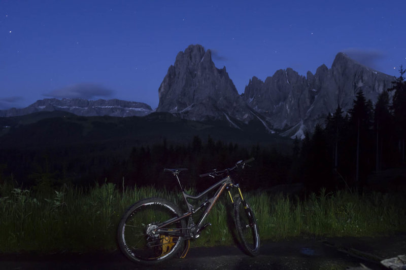 The Dolomites after dark