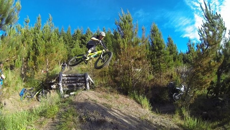 Zach shows how it's done over the gap jump on Crank.
