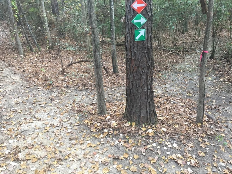 4-way intersection of Orange & Green Loop