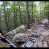 There is a nice stretch of rock garden right before the fork. At the fork, if you go right, there is an extended rock section. If you go right at the split, it's smoother singletrack.