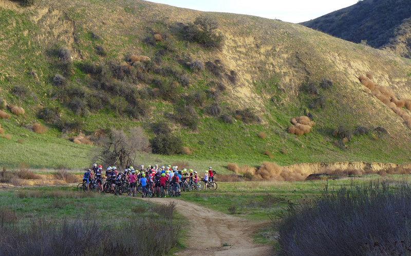 High School Mountain Bike Team at Oakmont Park.