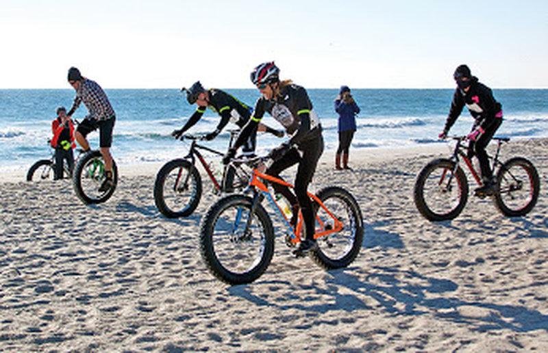 Fat bikes on the beach!